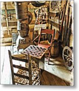 Checkers At The General Store Metal Print