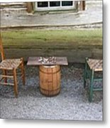 Checkers Game Metal Print by Frank Romeo