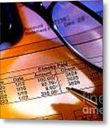 Checking Account Statement Metal Print
