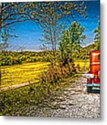 checking route getawayJefferson co.. IN Metal Print