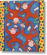 Cheeky Monkeys Wc Metal Print