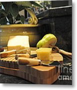 Cheeses And Fruit Metal Print