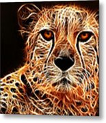 Cheetah Artwork Metal Print