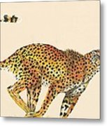 Cheetah Painting Metal Print