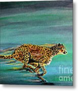 Cheetah Run Metal Print