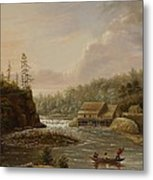 Cheevers Mill On The St. Croix River Metal Print