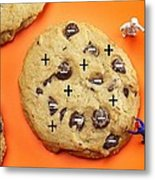 Chef Depicting Thomson Atomic Model By Cookies Food Physics Metal Print