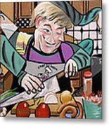 Chef With Heart Metal Print