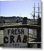 Chelsea Rose Crab Metal Print