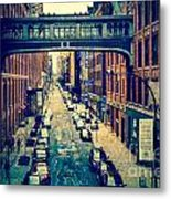 Chelsea Street As Seen From The High Line Park. Metal Print