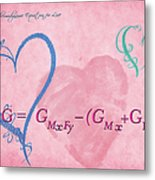 Chemical Thermodynamic Equation For Love 2 Metal Print