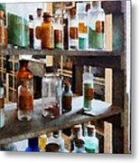 Chemistry - Bottles Of Chemicals Metal Print