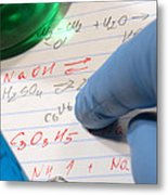 Chemistry Formulas In Science Research Lab Metal Print
