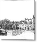 Chenonceau Entrance Metal Print