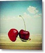 Cherries Love Metal Print