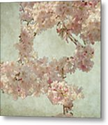 Cherry Blossom Bridal Bouquet Metal Print