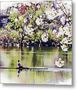 Cherry Blossom Rower Metal Print