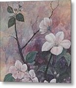 Cherry Blossoms In The Cosmos Metal Print by Sandy Clift