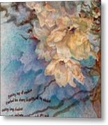 Cherry Blossoms N Lace Metal Print