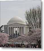 Cherry Blossoms With Jefferson Memorial - Washington Dc - 01132 Metal Print