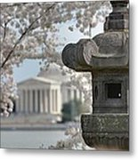 Cherry Blossoms With Jefferson Memorial - Washington Dc - 011323 Metal Print by DC Photographer