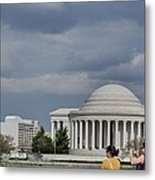 Cherry Blossoms With Jefferson Memorial - Washington Dc - 011341 Metal Print