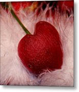 Cherry Heart Metal Print