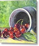 Cherry Pickins Metal Print