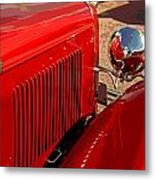 Cherry Red Ford Metal Print