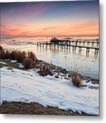 Chesapeake Bay Freeze Metal Print