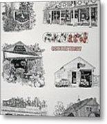 Cheshire Landmarks Metal Print