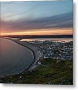 Chesil Beach Sunset  Metal Print