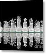 Chess Game Reflection Metal Print