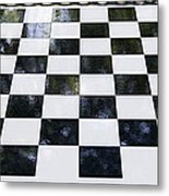 Chess In The Park Metal Print