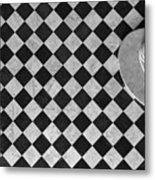 Chessboard Staircase Metal Print