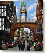 Chester Eastgate Clock Metal Print