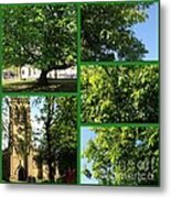 Chestnut Trees At Christchurch Metal Print