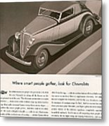 Chevrolet 1933 1930s Usa Cc Cars Metal Print