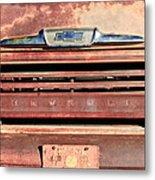 Chevrolet Apache 31 Pickup Truck Grille Emblem Metal Print