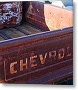Chevrolet Apache 31 Pickup Truck Tail Gate Emblem Metal Print