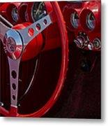 Chevrolet Corvette Red 1962 Metal Print
