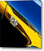 Chevrolet Chevelle Ss 396 Side Emblem Metal Print