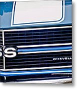 Chevrolet Chevelle Ss Grille Emblem 2 Metal Print by Jill Reger