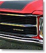Chevrolet Chevelle Ss Grille Emblem Metal Print