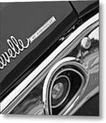 Chevrolet Chevelle Ss Taillight Emblem Metal Print