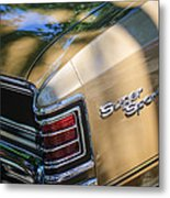 Chevrolet Chevelle Ss Taillight Emblems Metal Print