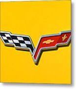 Chevrolet Corvette Flags Metal Print
