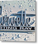 1966 Chevrolet Corvette Sting Ray Emblem -0052c Metal Print