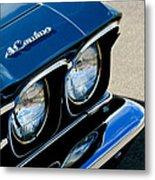 Chevrolet El Camino Hood Emblem - Head Lights Metal Print