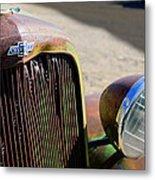 Chevrolet Grille Emblem - Head Light Metal Print